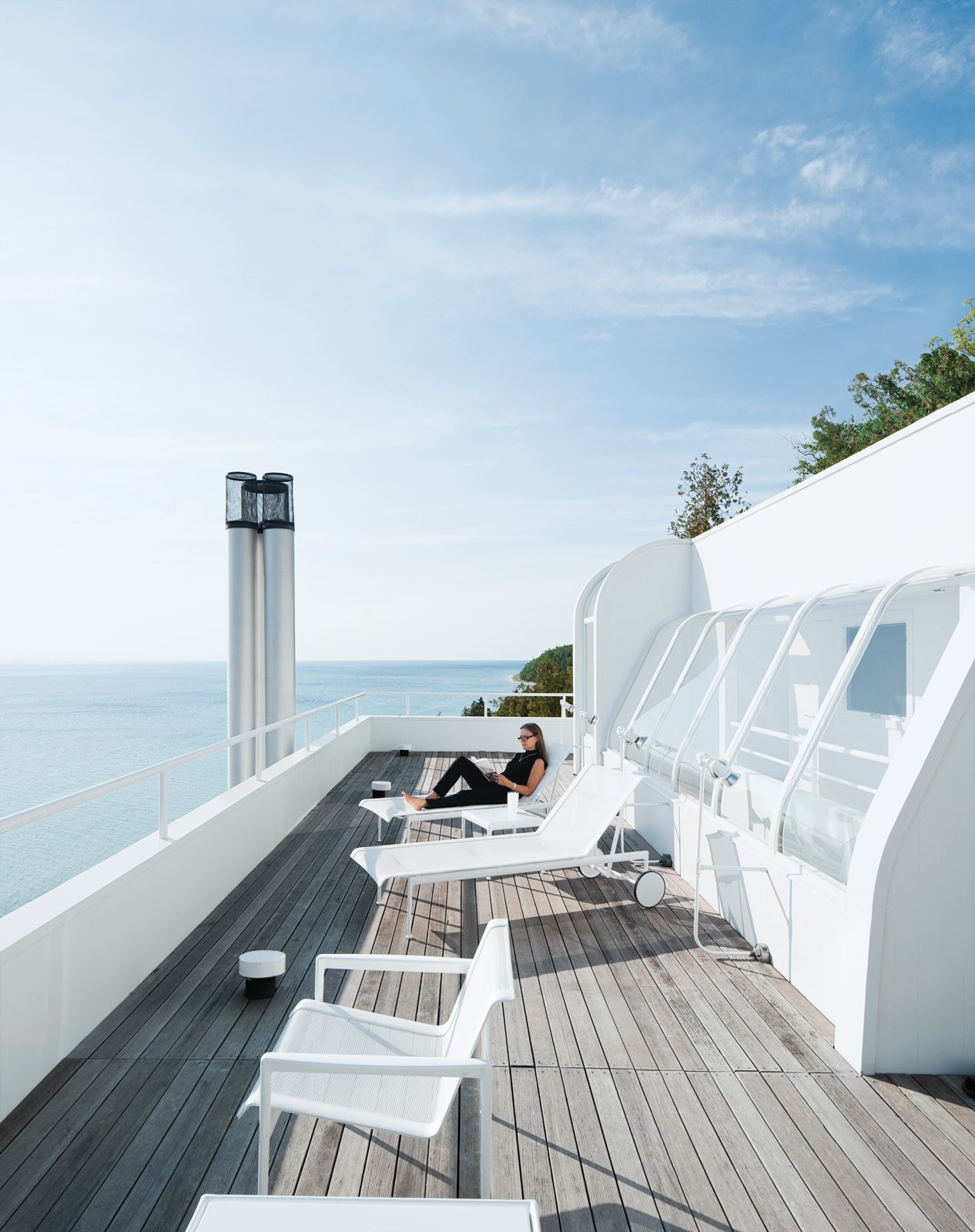 The outdoor furniture is from Richard Schultz.  Photo 9 of 22 in This Lake House Is a Living Piece of Architecture History