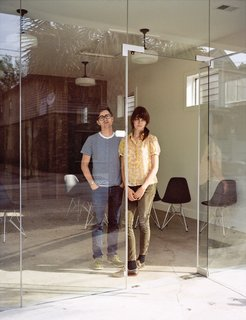 Josh Nissenboim and Helen Rice inside Fuzzco, their design firm, Fuzzco, headquartered just down the street.