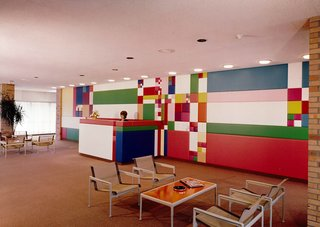 A playful interior of the Midland HQ for Dow Chemical.