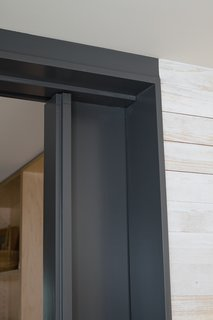 "Pocket Change""We wanted the main spaces of the house to flow into each other while still being able to isolate areas for privacy,"" says Bull, who designed floor-to-ceiling pocket doors that slide into the wall, closing off the bedroom wing, the meditation room, and the entryway. ""We spec'd Häfele Hawa Junior sliding door hardware. At about $225 per door it's a bit more expensive than some other brands, but it is very smooth and quiet.""<br><br>hafele.com"