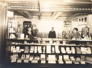 Be prepared to get lost in Old S.F.'s vintage photographs. Here's a circa 1915 shot showing the stationery Department at the City of Paris department store.