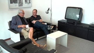 On September 21, director Gary Hustwit (shown here on the right with designer Dieter Rams in a still from his design documentary Objectified) will be screening his new film Urbanized at the Sundance Kabuki Cinemas. Courtesy of objectifiedfilm.com.