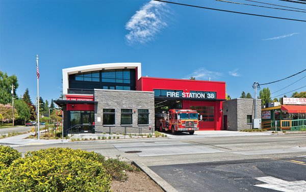 Fire Station 38 by Schreiber Starling & Lane Architects.