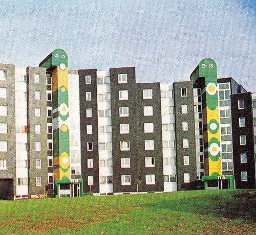 Eberhad Rau's Residential Building in Stuttgart-Freiberg, 1973, as seen on Betonbabe.