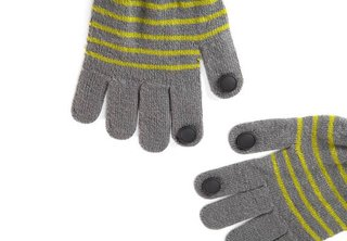 These gloves by Quirky solve the problem of scrolling through touch screens in the cold.