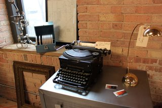 More Finds from The Vintage Bazaar - Photo 2 of 10 - Manly Vintage stocks top notch masculine style like this refurbished brushed metal casegood, which co-owner Morgan Gagne painstakingly prepped especially for The Vintage Bazaar. Gagne and biz partner Jayson Franklin also restore old typewriters and vintage fans. <br><br>Photo by <br><br>Felix Jung