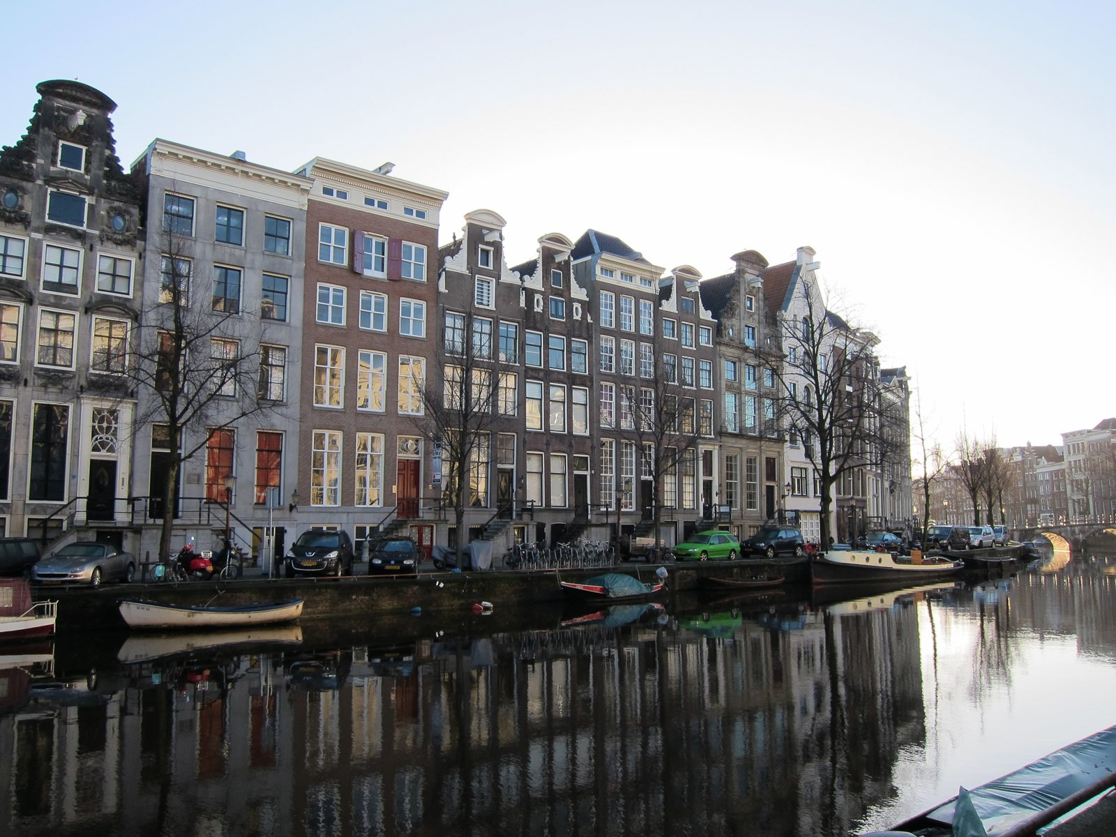"""Here's what the surrounding neighborhood looks like. The hotel overlooks the center canal, the Keizersgracht, and is set within the """"grachtengordel,"""" the city's central canal-ring, within walking distance of the charming shops of the Nine Streets district.  The Dylan, Amsterdam by Jaime Gillin"""