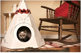 This paper cat house is by Canada's Loyal Luxe.