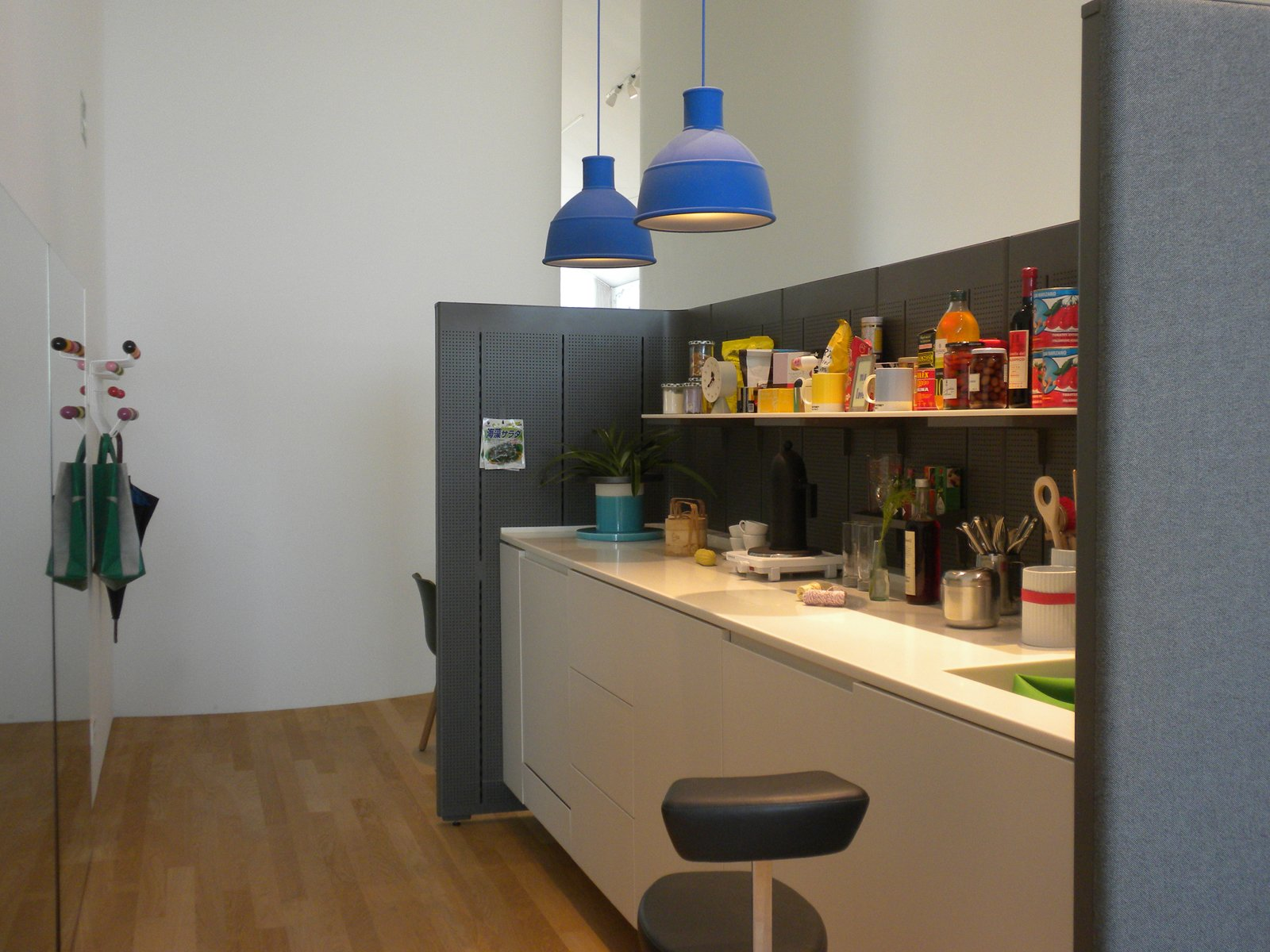 This vignette shows the Communal Cell, a prototype by Ronan and Erwan Bouroullec designed in 2010 as an office kitchen space.  Inside the VitraHaus by Miyoko Ohtake
