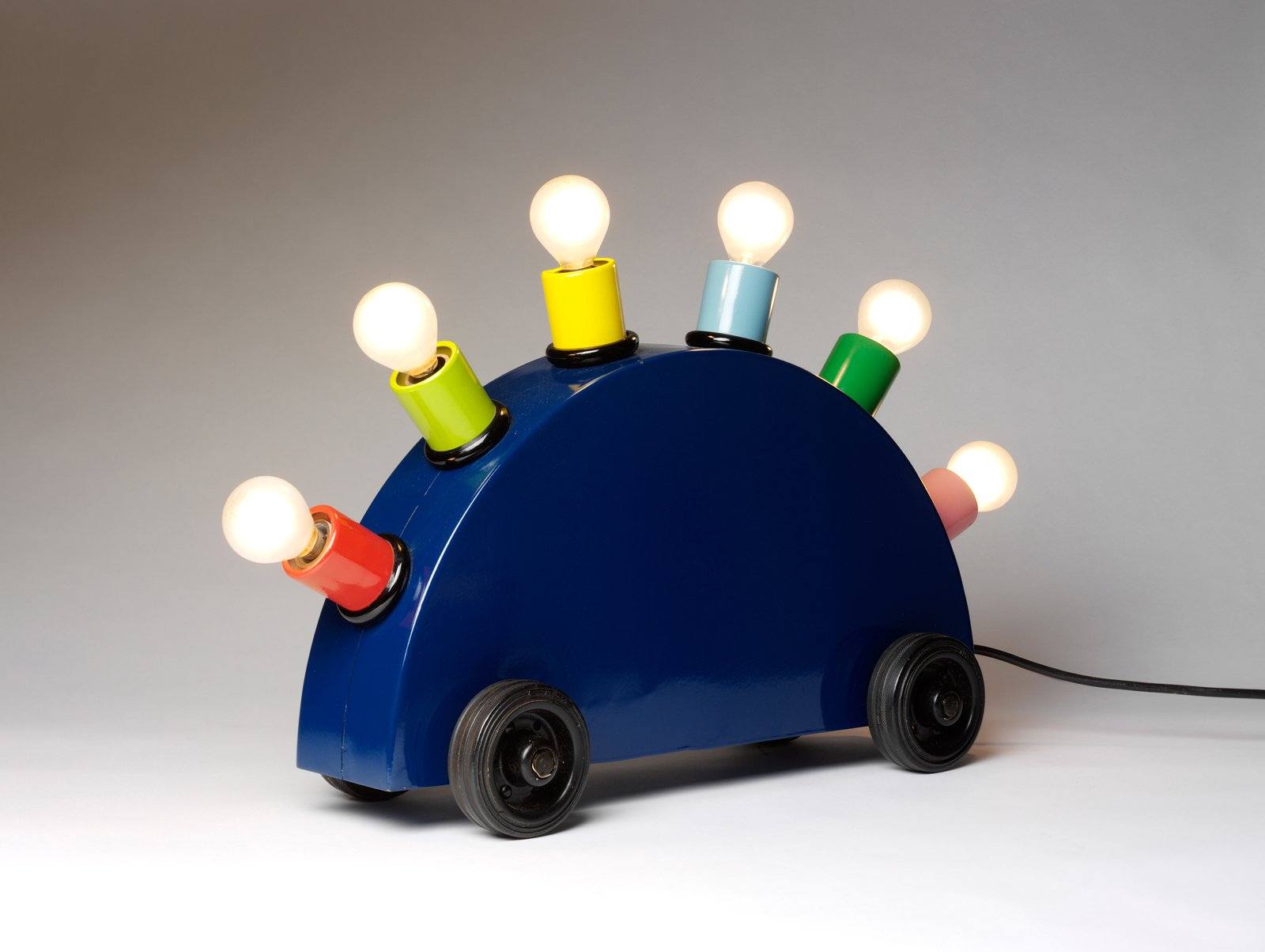 """""""Super Lamp"""" Martine Bedin. © V&A Images. Painted metal, lighting components.  60+ Modern Lighting Solutions by Dwell from """"Postmodernism"""" at the V&A Museum"""
