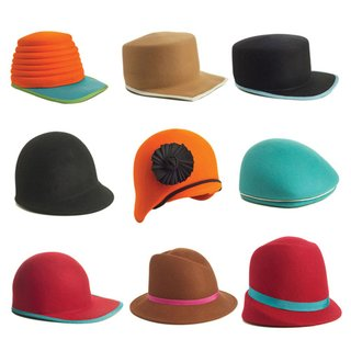 A selection of handmade hats from one of the last remaining millineries in the United States.