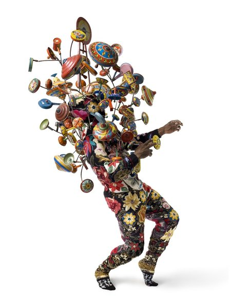"""Artspace Soundsuit <a href=""""/discover/1"""" target=""""_blank"""">#1</a>, by Nick Cave, one of Levene's favorite pieces currently available on the site."""