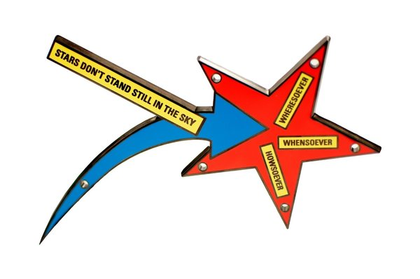 Stars Don't Stand Still in the Sky, by Lawrence Weiner