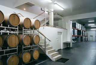 The interior of the Sattler Winery is kept at a constant 60 degrees Fahrenheit.