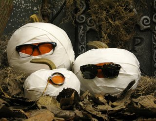 These smashing pumpkins are decked out with shades by Warby Parker.