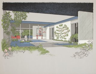 Indoor-outdoor living was one of the main elements of Diniz's work on the Monarch Bay Homes from the early 1960s.