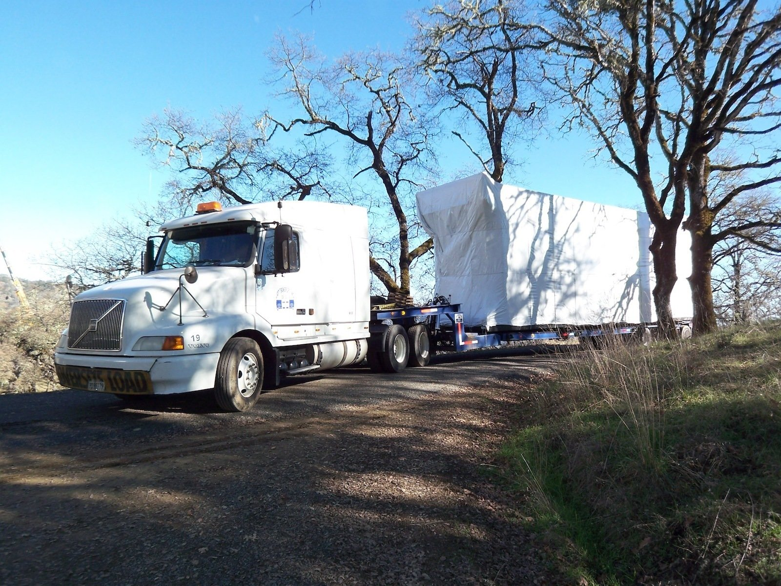 Here's the first module as it arrived at the site early in the morning.  Building a Prefab House by Jaime Gillin