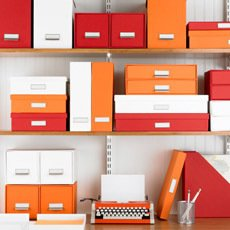 2012 Color of the Year: Tangerine - Photo 3 of 5 - Container Store Stockholm storage boxes in orange, $9.99 each.