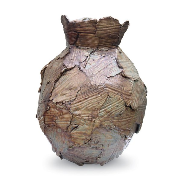 This vase by Peter Marigold is made from timber-molded wax.