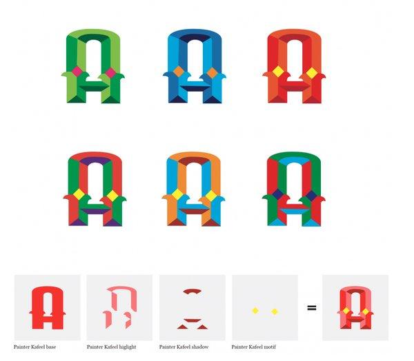 Painter Kafeel's digitized letters.