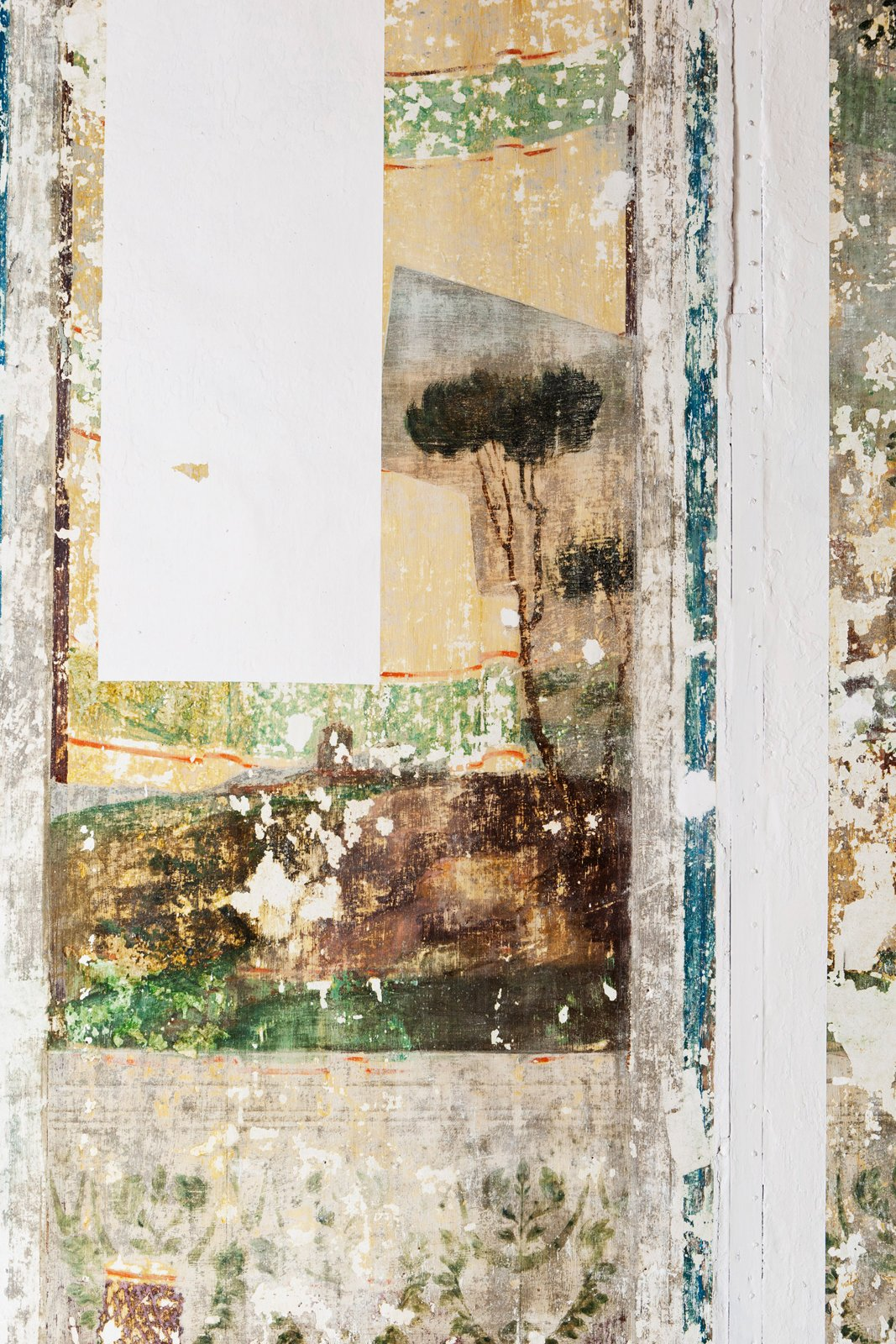 A detail of a wall illustrates Benedetta's eye for pattern and texture.