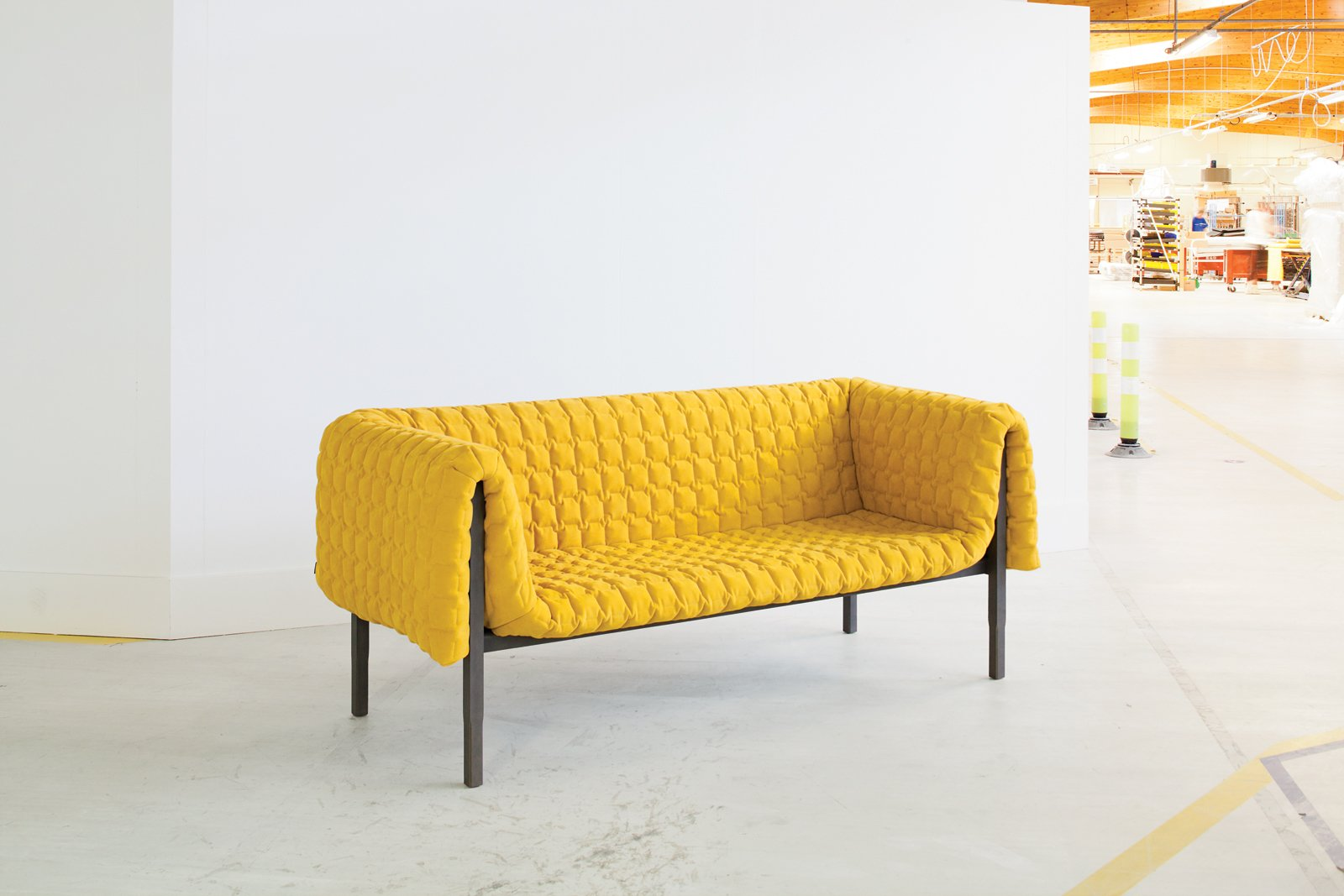 Despite its relatively simple-looking form, the Ruché is a highly labor-intensive piece of furniture, requiring a diverse range of craftspeople and talents.