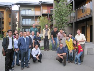 A Zero-Energy Community: Part 8 - Photo 2 of 7 - We had several overseas tour groups visit zHome. This Taiwanese group included a number of academics and architects.