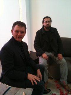 Flos Shop in San Francisco DZINE Showroom - Photo 3 of 9 - Piero Gandini (left) and designer Ron Gilad.