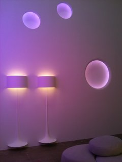 Flos Shop in San Francisco DZINE Showroom - Photo 5 of 9 - The lights cycled through a spectrum of colors.