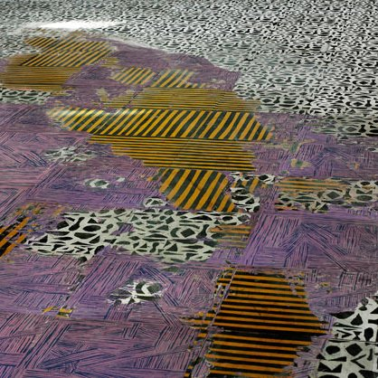 As time passes, the carpet of multi-layered paint wears down to reveal where the most traffic occurs.