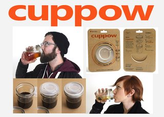 Friday Finds 01.20.12 - Photo 7 of 9 - The Cuppow turns Mason jars into to-go cups.