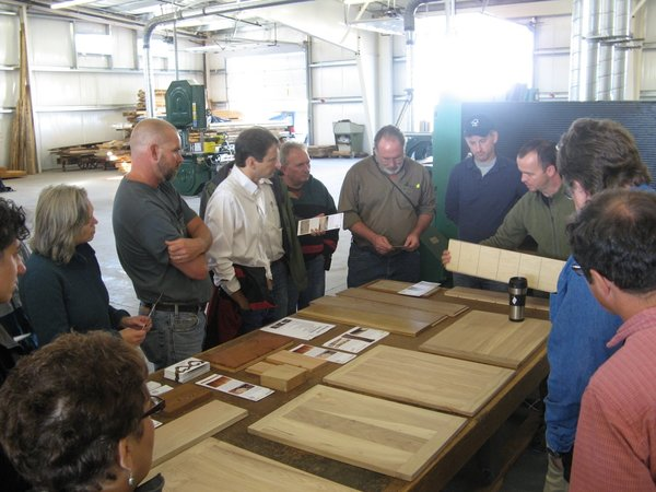 Visiting local Green Tree Mill with FSC President Corey Brinkema. Green Tree supplies both FSC and urban salvage wood products.