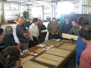 Building a Zero-Energy Community: Part 9 - Photo 2 of 6 - Visiting local Green Tree Mill with FSC President Corey Brinkema. Green Tree supplies both FSC and urban salvage wood products.