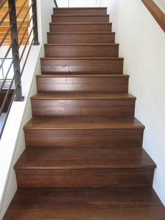 Building a Zero-Energy Community: Part 9 - Photo 5 of 6 - FSC-certified bamboo stair treads and flooring.