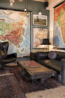 The lobby is decked out with vintage furniture sourced mostly from small American cities.