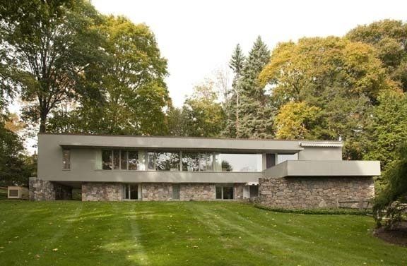 A sibling of Johnson's Glass House is the Breuer-Robeck House, a privately owned historic property in New Canaan, designed by noted modern architect and furniture designer Marcel Breuer.