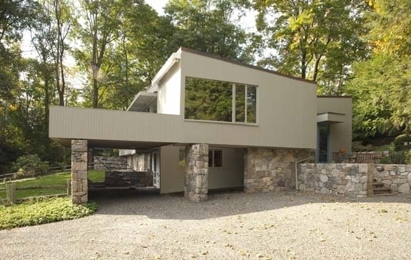 The Breuer-Robeck House, a privately owned historic property in New Canaan, was designed by noted modern architect and furniture designer Marcel Breuer.