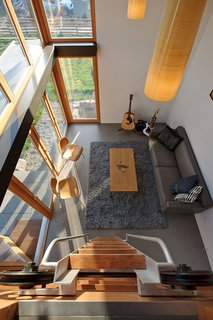 Garden Pavilion, Seattle - Photo 2 of 4 - Here's a bird's eye view of the living area from the loft.