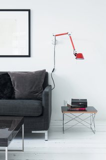 Items that made the cut include a sofa from the Swedish company Ire; an Eames side table; a wall-mounted Artemide light; and a Moser pendant from Louis Poulsen.