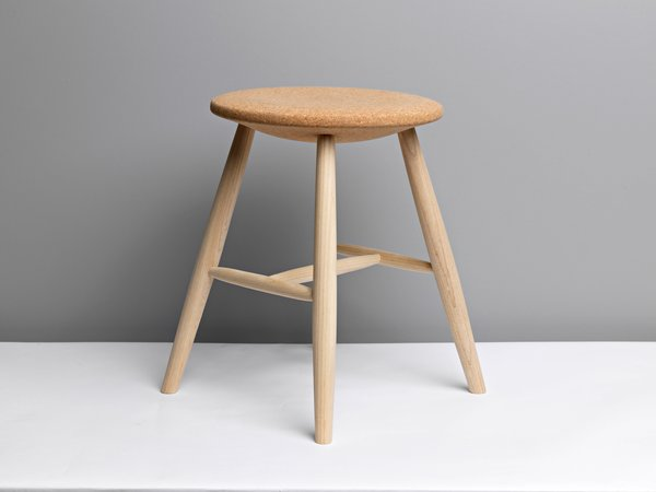 The ash and cork Drifted stool by Lars Fjetland for Discipline.