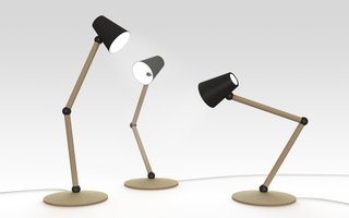 Salone 2012 Preview: Discipline - Photo 3 of 8 - The Companion table lamp is lit by an LED bulb.