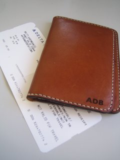 Chester Mox Passport Wallet - Photo 2 of 3 - Dig that monogram in Gill Sans!