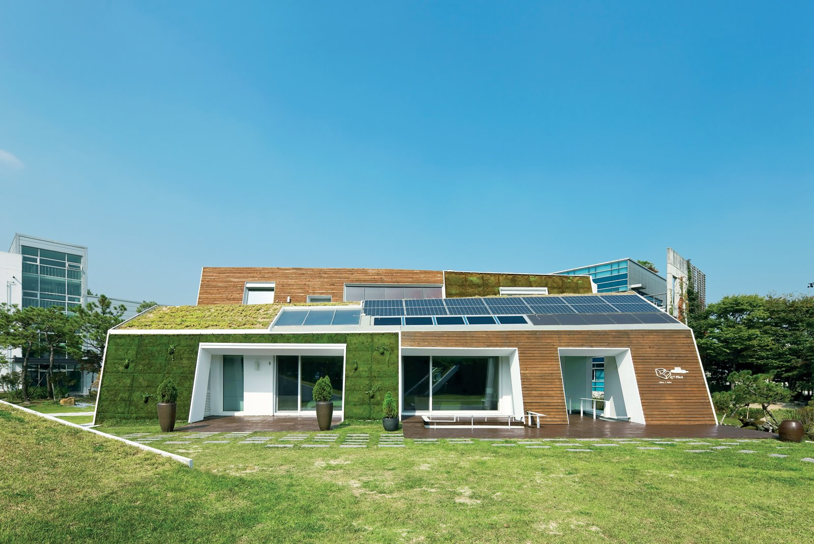 Modern green concept house in south korea dwell for Modern house korea