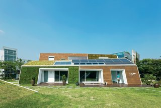 Modern Green Concept House in South Korea - Photo 1 of 10 -