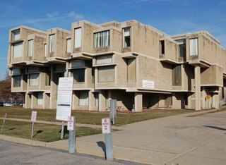 Anti-Demolition Petition in Goshen - Photo 1 of 3 - Here's the exterior of the Paul Rudolph–designed structure.