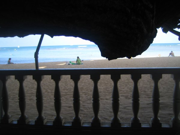 Here's that perfectly-framed sliver of a view from my table over breakfast.