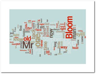 Friday Finds 04.13.12 - Photo 1 of 5 - Ulysses word cloud poster from beautifulwordsbeautifulart.com.
