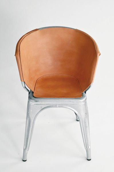 Leather Tolix chair cover by Henry WIlson