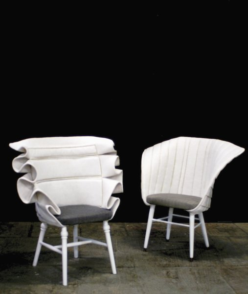 Frederik Farg's RE:Cover series gives fresh life to found furniture.