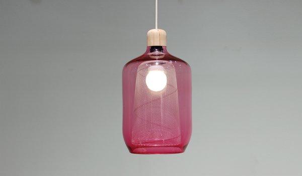 Milk Bottle lamp by Studio Gorm.